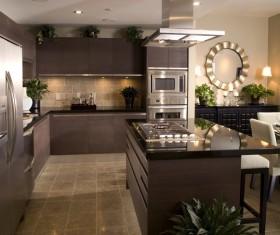 Modern simple Open kitchen Stock Photo 02