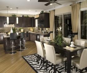 Modern simple Open kitchen Stock Photo 03