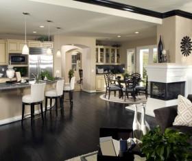 Modern simple Open kitchen Stock Photo 04