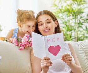 Mothers Day dedicated to the mothers flowers and gifts Stock Photo