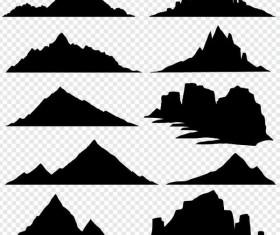 Mountain illustration vectors set 01