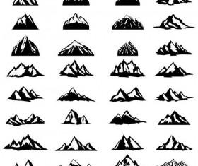 Mountain illustration vectors set 02