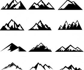Mountain illustration vectors set 03