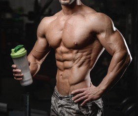 Muscle Fitness man Stock Photo 01