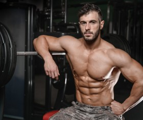 Muscle Fitness man Stock Photo 02