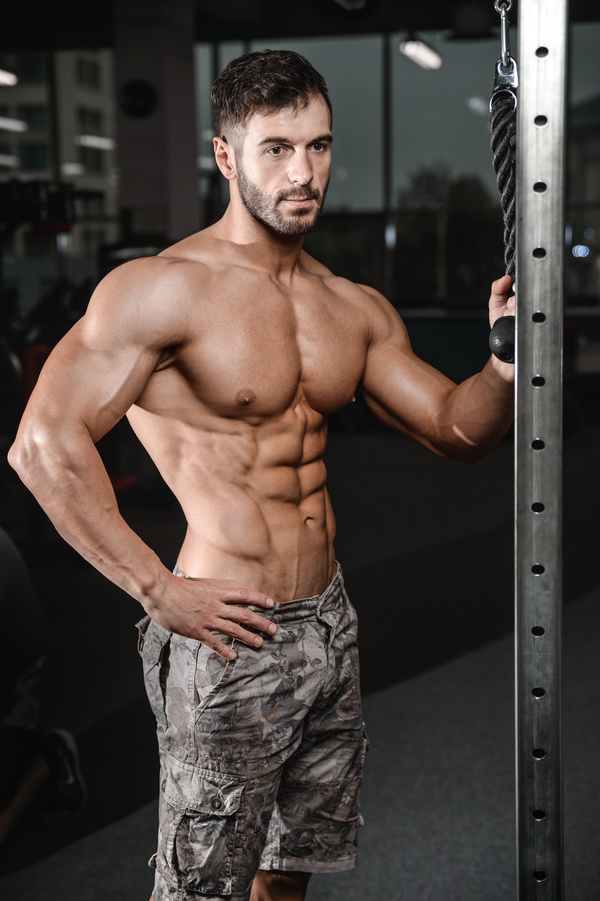 Muscle Fitness man Stock Photo 03