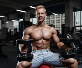 Muscle Fitness man Stock Photo 06