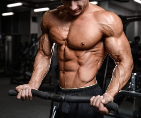 Muscle Fitness man Stock Photo 07