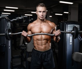 Muscle Fitness man Stock Photo 08