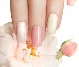 Nail polish glue nail art Stock Photo