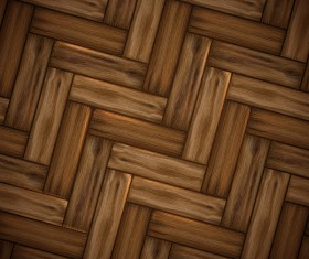 Natural wooden boards background vector