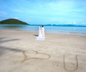 Newly married couples Stock Photo 01