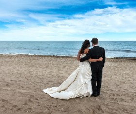 Newly married couples Stock Photo 03