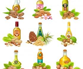 Nut oil vector material