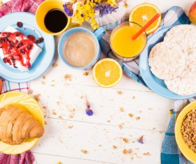 Nutrition with a reasonable breakfast Stock Photo 04