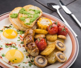 Nutrition with a reasonable breakfast Stock Photo 05
