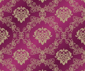 Ornage ornament damask pattern seamless vector 01