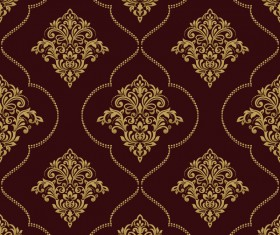 Ornage ornament damask pattern seamless vector 02