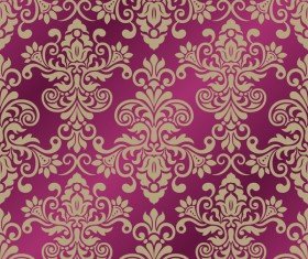 Ornage ornament damask pattern seamless vector 03