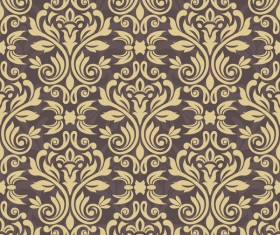 Ornage ornament damask pattern seamless vector 04