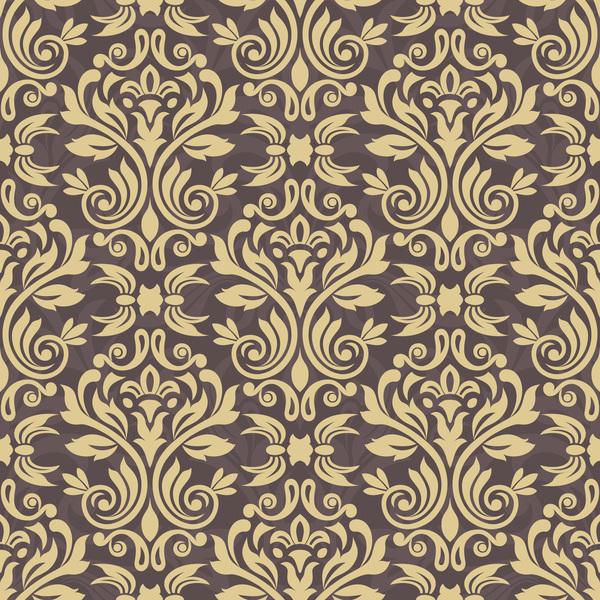 Ornage Ornament Damask Pattern Seamless Vector 40 Free Download Mesmerizing Damask Pattern