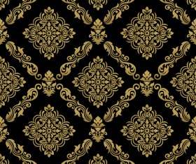 Ornage ornament damask pattern seamless vector 05