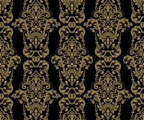 Ornage ornament damask pattern seamless vector 06