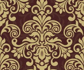 Ornage ornament damask pattern seamless vector 07