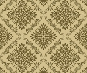Ornage ornament damask pattern seamless vector 09