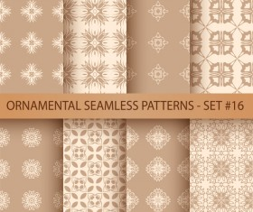 Ornament seamless pattern vector set