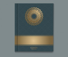 Ornate book cover template vectors 01