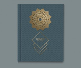 Ornate book cover template vectors 02