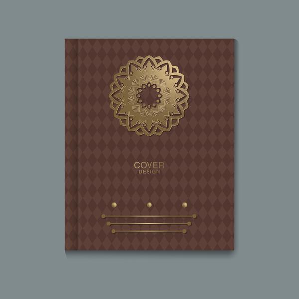Ornate book cover template vectors 03