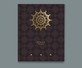 Ornate book cover template vectors 05