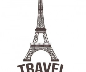 Paris eiffel tower vector design 04