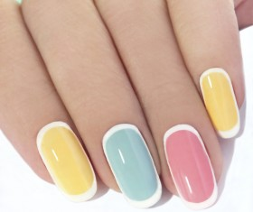 Patch nail art Stock Photo 03