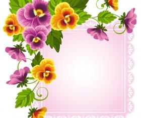 Phalaenopsis and pink frame vectors
