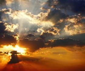 Photograph beautiful sunset Stock Photo 11