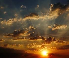 Photograph beautiful sunset Stock Photo 12