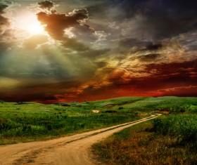 Photograph beautiful sunset Stock Photo 14