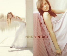 Pink Vintage Photoshop Action