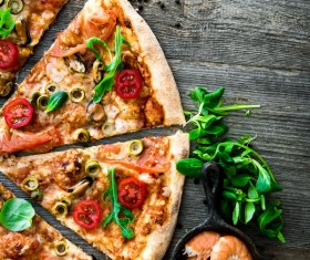 Pizza with seafood Stock Photo 03