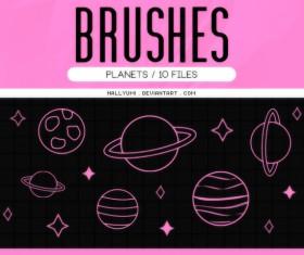 Planets Photoshop Brushes set