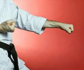 Practice karate Stock Photo