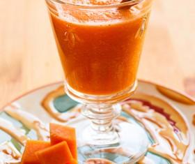 Pumpkin smoothie dessert Stock Photo