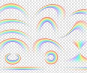 Rainbow effect vector illustration 01