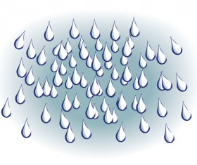 Raindrops hand drawn vector