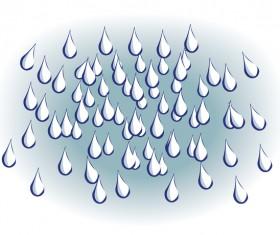 Raindrops hand drawn vector
