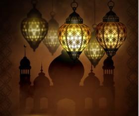 Ramadan Kareem greeting card vectors set 04