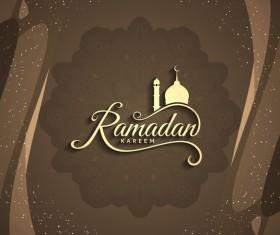 Ramadan Kareem greeting card vectors set 05